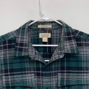 L.L. Bean Mens Multicolor Plaid Shirt 2XL